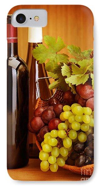 Grape Wine Still Life Phone Case by Anna Om