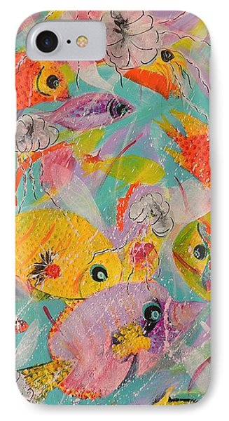IPhone Case featuring the painting Great Barrier Reef Fish by Lyn Olsen