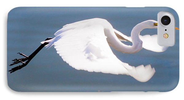 Great Egret In Flight Phone Case by Thomas Marchessault