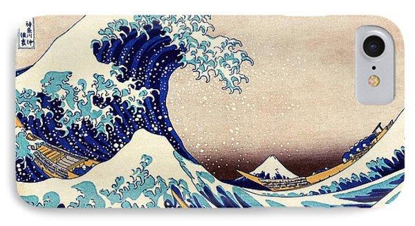 Great Wave Off Kanagawa IPhone Case by Katsushika Hokusai