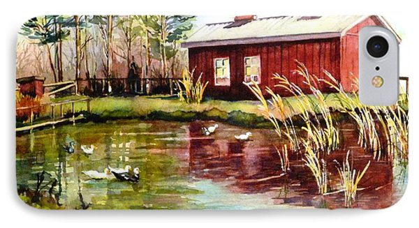 Green Acre Farm IPhone Case by Betty M M   Wong