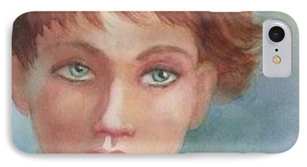 Green Eyes IPhone Case by Marilyn Jacobson