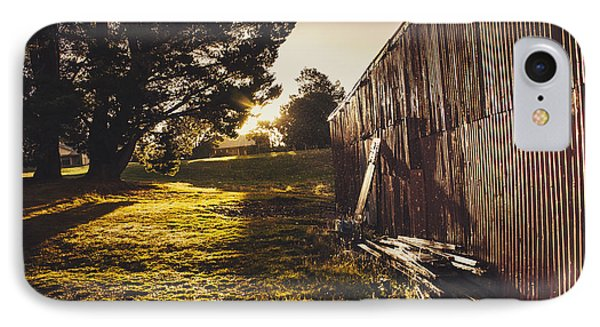Green Farm Paddock Landscape. Outback Australia IPhone Case by Jorgo Photography - Wall Art Gallery