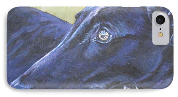 Greyhound Phone Case by Lee Ann Shepard