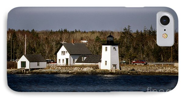 Grindel Point Lighthouse  Phone Case by Skip Willits