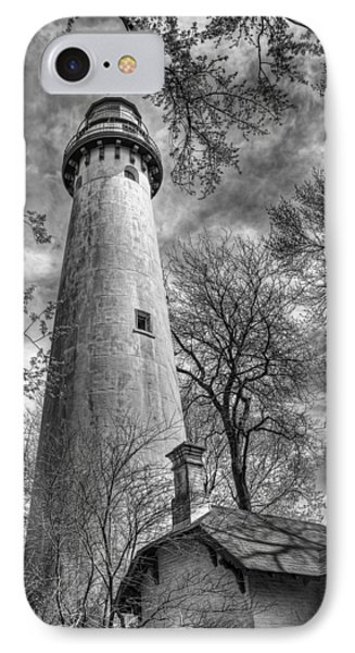 Grosse Point Lighthouse IPhone Case by Scott Norris