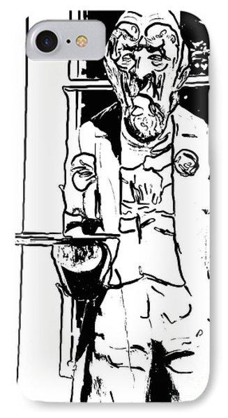 Grumpy Old Waiter Carving Key West - Digital IPhone Case