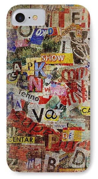 Grunge Textured Background Phone Case by Jelena Jovanovic