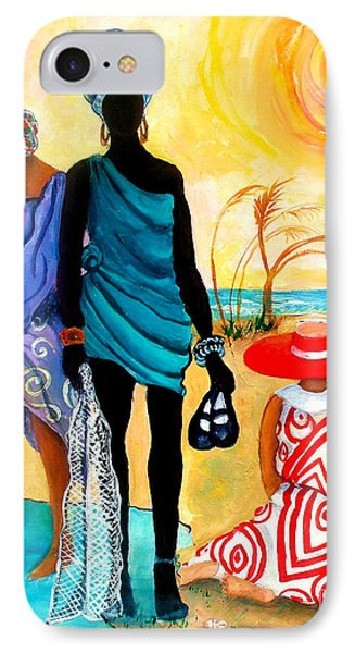 IPhone Case featuring the painting Gullah-creole Trio  by Diane Britton Dunham
