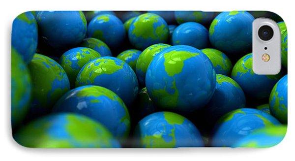 Gum Ball Earth Globes IPhone Case