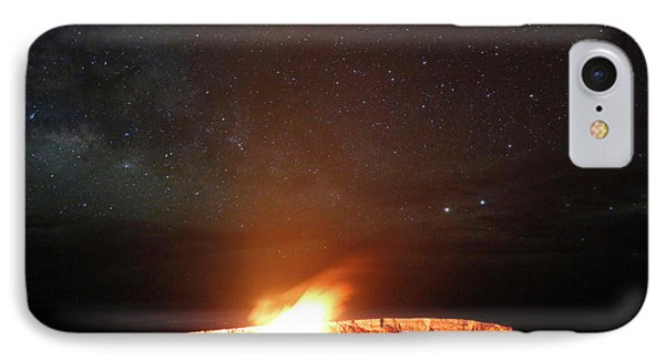 Halemaumau Volcanism At Night IPhone Case by Michael Szoenyi