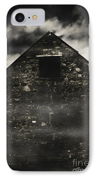 Halloween House Of Horrors. Scary Stone Building IPhone Case