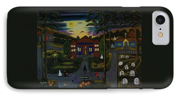 Halloween Night Phone Case by Brenda  Drain