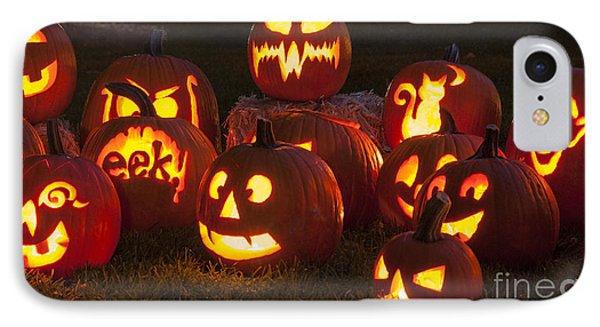 Halloween Pumpkins IPhone Case by Juli Scalzi