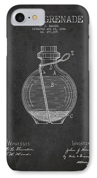 Hand Grenade Patent Drawing From 1884 Phone Case by Aged Pixel