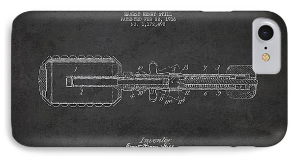 Hand Grenade Patent Drawing From 1916 Phone Case by Aged Pixel