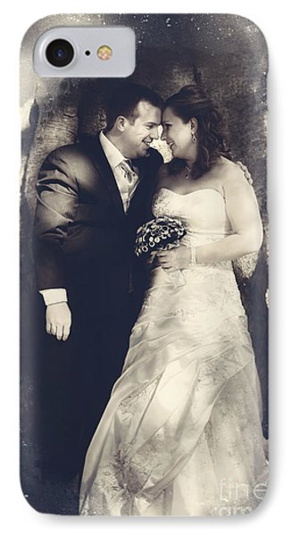 Happy Bride And Groom In A Wedding Romance IPhone Case