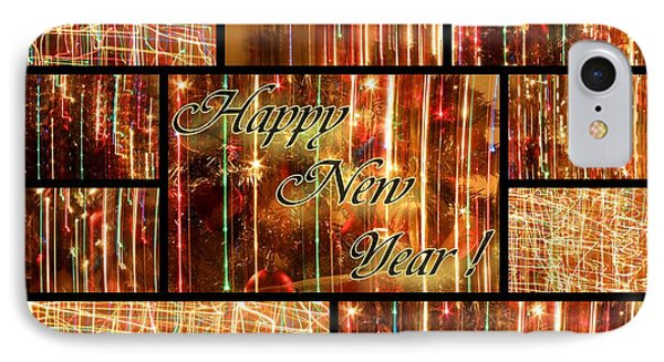 Happy New Year Collage  Phone Case by Julia Fine Art And Photography