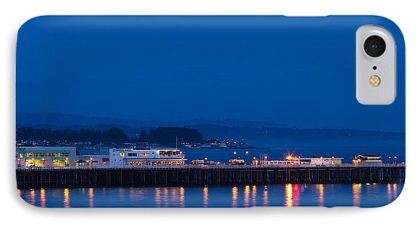 Harbor And Municipal Wharf At Dusk IPhone Case by Panoramic Images