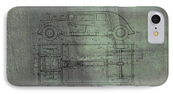Harleigh Holmes Automobile Patent From 1932 IPhone Case