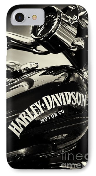 Harley D Sepia IPhone Case by Tim Gainey