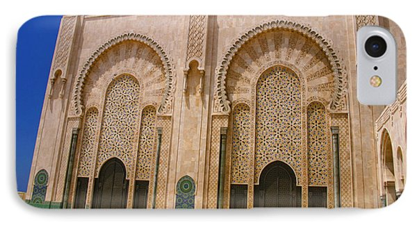 IPhone Case featuring the photograph Hassan II Mosque Grand Mosque Sour Jdid Casablanca Morocco by Ralph A  Ledergerber-Photography