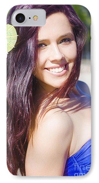 Hawaiian Girl In Hawaii IPhone Case by Jorgo Photography - Wall Art Gallery