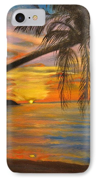 IPhone Case featuring the painting Hawaiian Sunset 11 by Jenny Lee