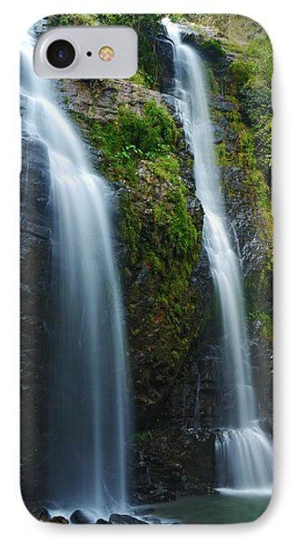 Hawaiian Waterfall IPhone Case by James Roemmling