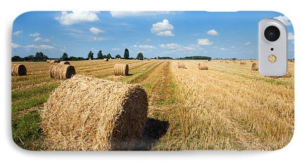 Haystacks In The Field Phone Case by Michal Bednarek
