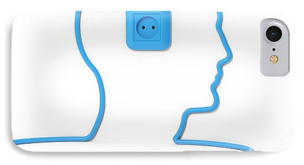 Head Made Form Power Cable IPhone Case by Andrzej Wojcicki