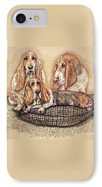 Hess'er Puppies Phone Case by Linda Simon