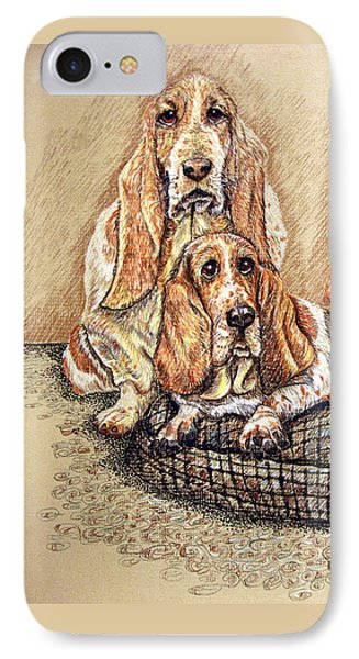 Hess'er Puppies IPhone Case by Linda Simon