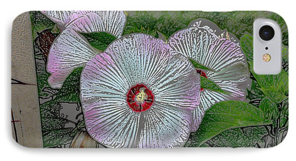 IPhone Case featuring the digital art Hibiscus Giants  by Kathleen Stephens