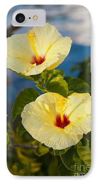 IPhone Case featuring the photograph Bright Yellow Hibiscus by Roselynne Broussard