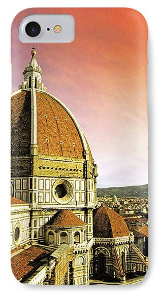 High Angle View Of A Cathedral, Duomo IPhone Case by Miva Stock