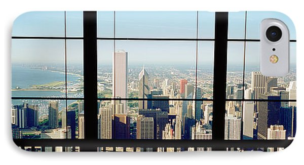 High Angle View Of A City As Seen IPhone Case by Panoramic Images