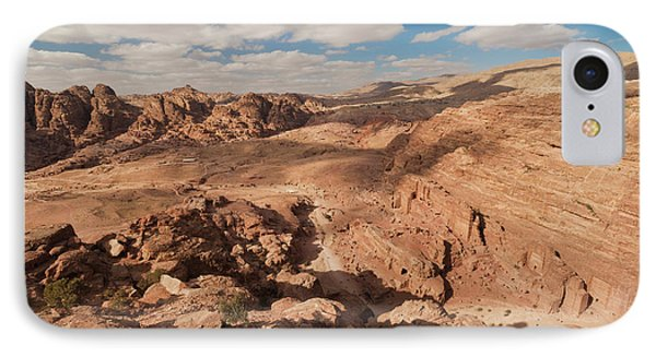 High Angle View Of Petra Valley IPhone Case