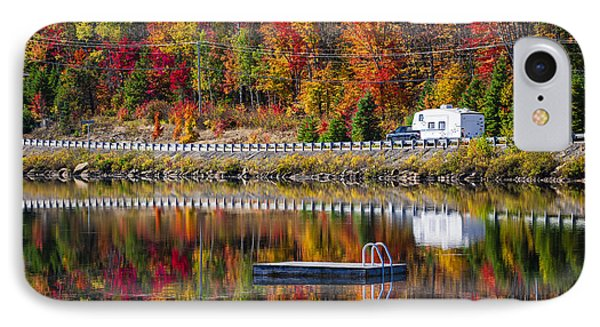 Highway Through Fall Forest IPhone Case