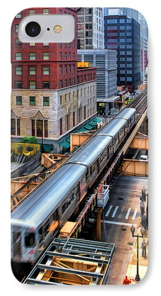 Historic Chicago El Train IPhone Case by Christopher Arndt