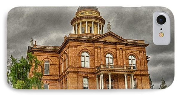 Historic Placer County Courthouse IPhone Case by Jim Thompson