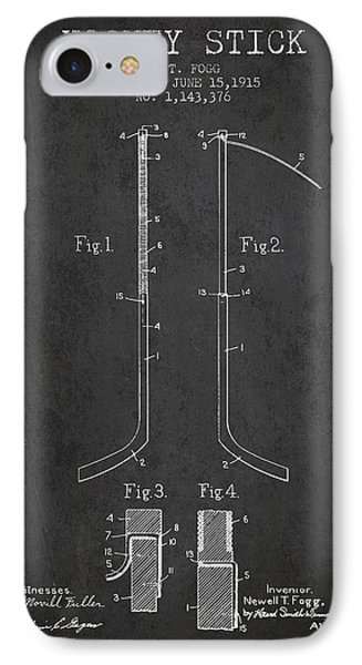 Hockey Stick Patent Drawing From 1915 IPhone Case by Aged Pixel