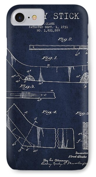 Hockey Stick Patent Drawing From 1931 IPhone Case by Aged Pixel