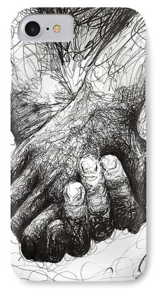 Holding Hands IPhone Case by Michael  Volpicelli