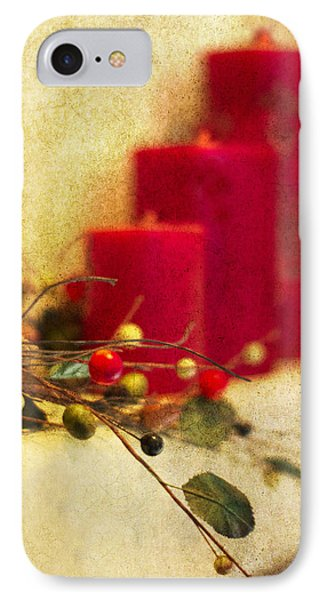 Holiday Candles Phone Case by Rebecca Cozart