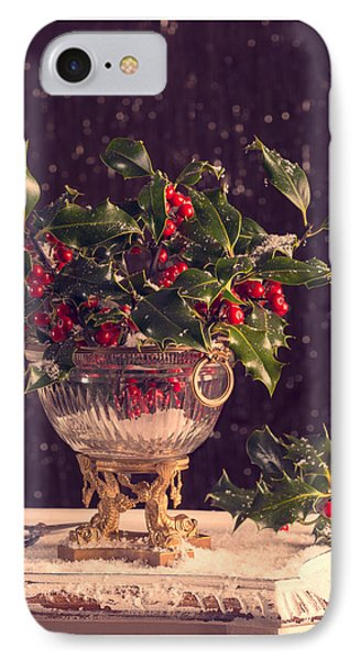 Holly And Berries IPhone Case by Amanda Elwell