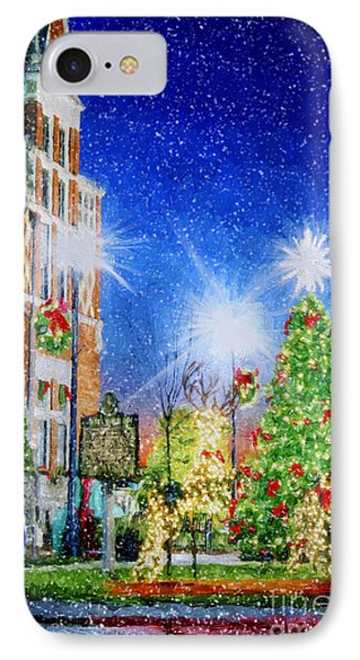 Home Town Christmas IPhone Case by Darren Fisher