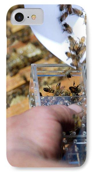 Honeybee iPhone 7 Case - Honeybee Shipment by Louise Murray/science Photo Library