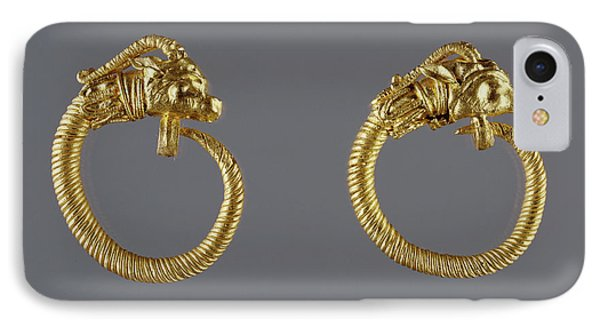 Hoop Earrings With Antelope-head Finials Unknown Alexandria IPhone Case by Litz Collection