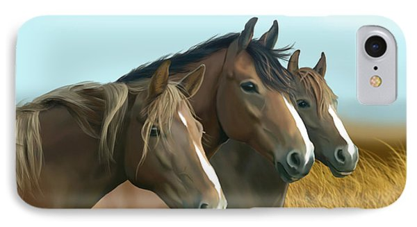 Hope Of The Mustangs Phone Case by Kate Black